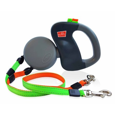 Wigzi Dual Doggie 2 Dog Retractable Leash Tangle Free 50