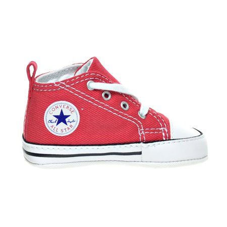 dcec15ad932e01 Converse Chuck Taylor First Star Infants Toddlers Shoes Red White 88875 -  Walmart.com