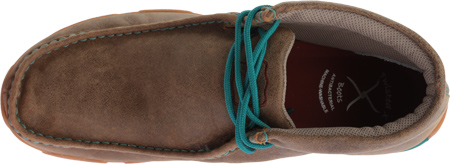 Twisted X Casual Shoes Mens Driving Mocs Lace Bomber Green MDM0041