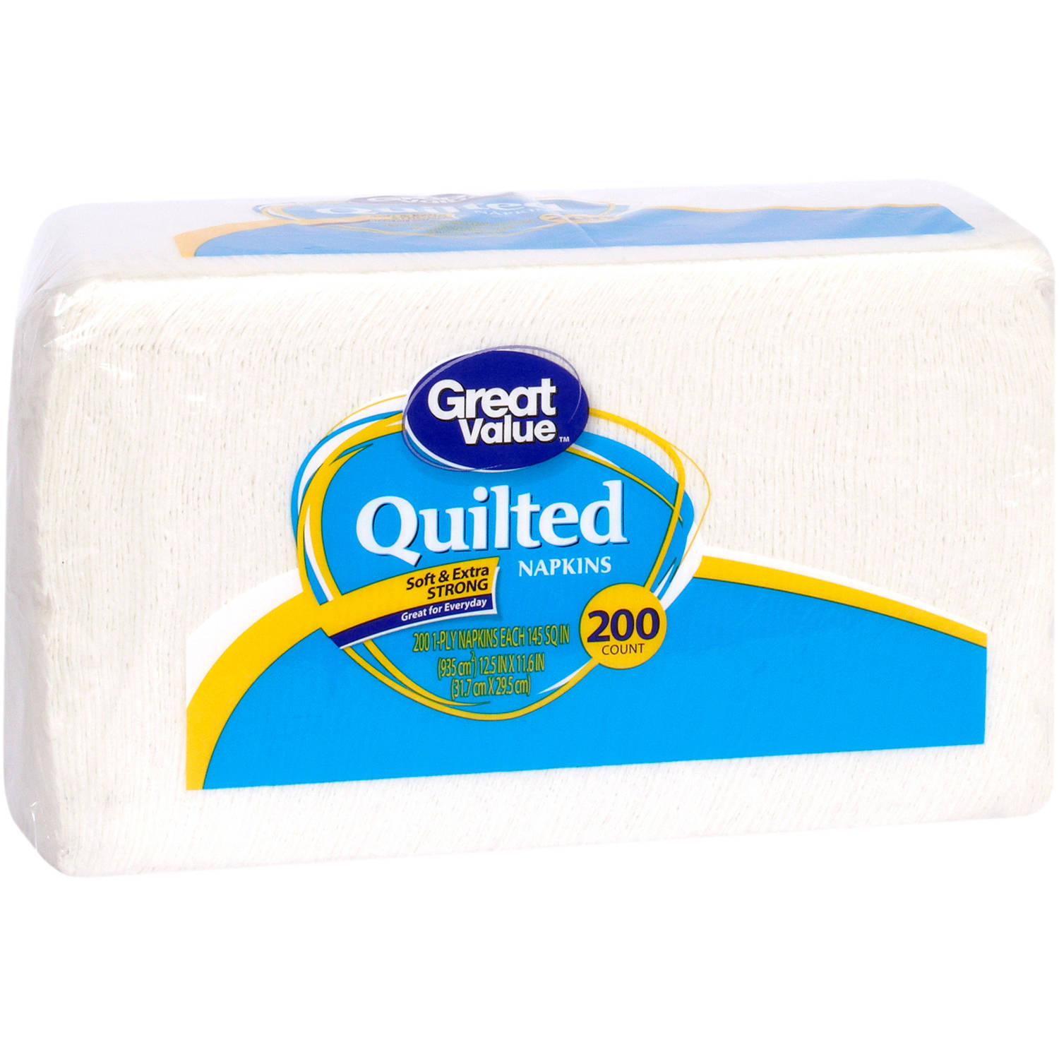Great Value Quilted Napkins, 200ct