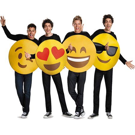Halloween Ideas For Groups Of Four (Adult Emoji Group Costume Set - 4)