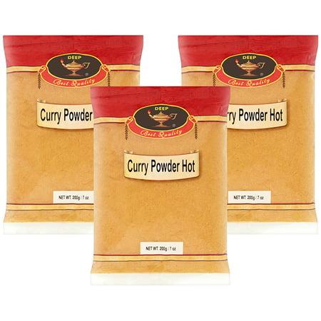 (3 Pack) DEEP Hot Curry Powder, 7 oz