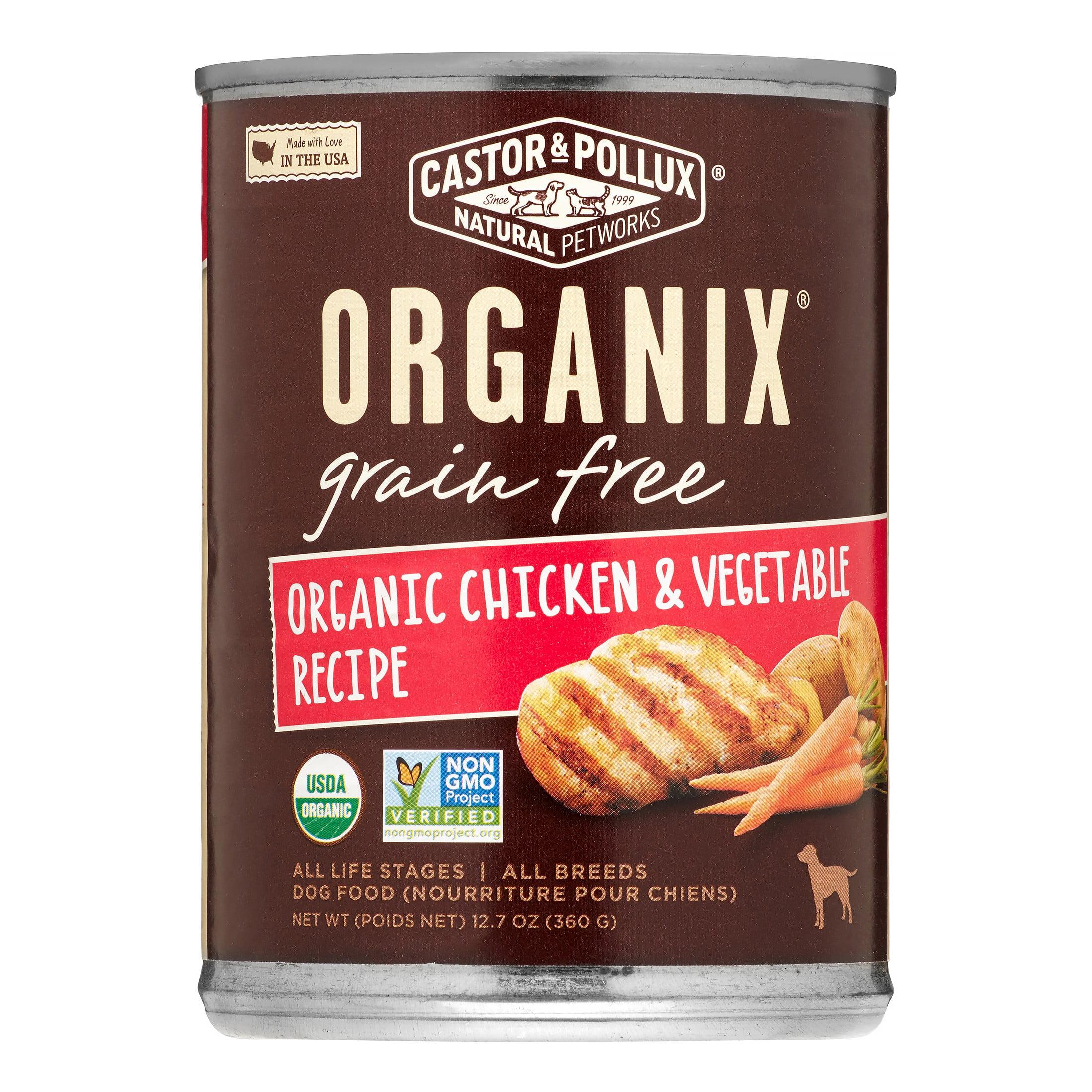 Castor & Pollux Organix Grain-Free Chicken & Vegetable Wet Dog Food, 12.7 oz Case of 12