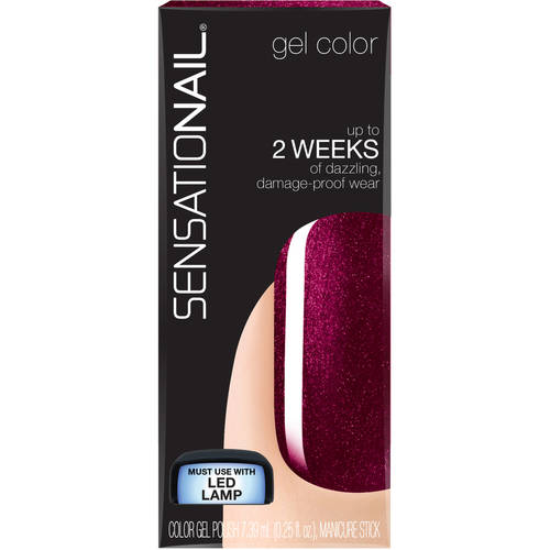 SensatioNail Gel Nail Color, Marsala Magic, 0.25 fl oz