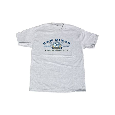 - San Diego City Cotton T-Shirt - Grey