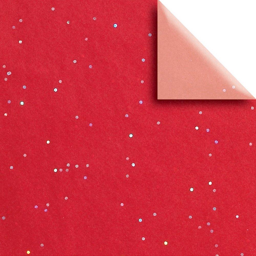 JAM Paper Design Gift Tissue, Red Shimmer, 20 x 30, 200 Sheets