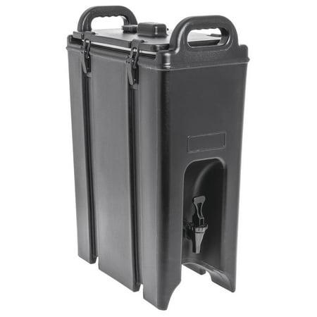 HUBERT Insulated Beverage Carrier Dispenser 4 3/4 Gallon Black