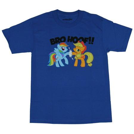Men Pony (My Little Pony Mens T-Shirt - Bro-Hoof! Rainbow Dash Applejack High Five (Small, Small) )
