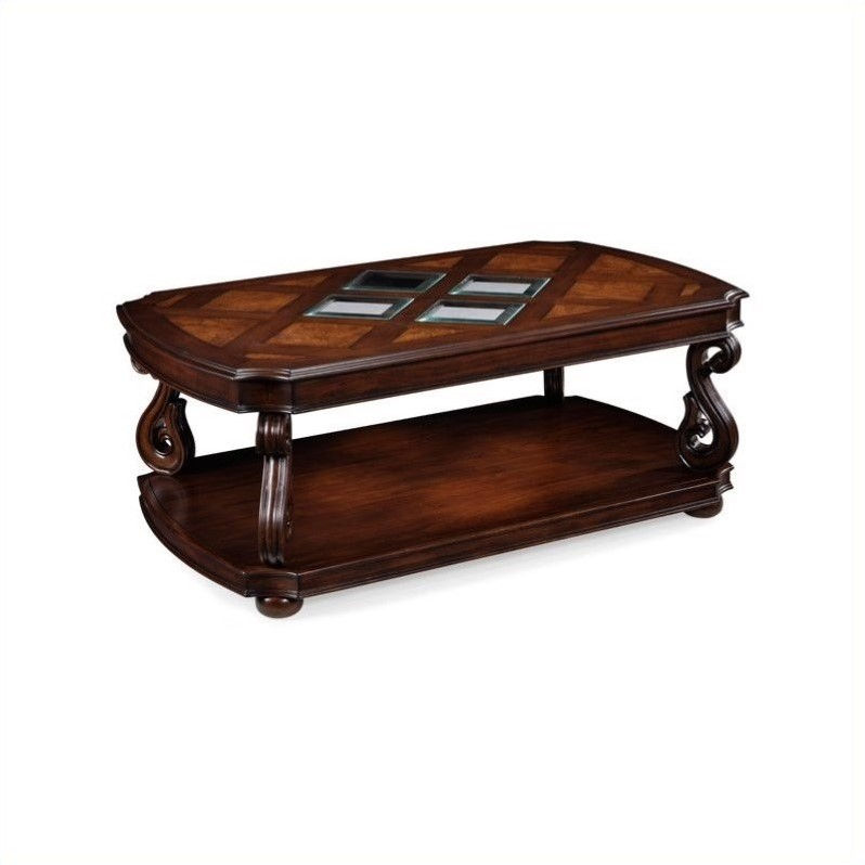 Magnussen Harcourt Wood Rectangle Cocktail Table