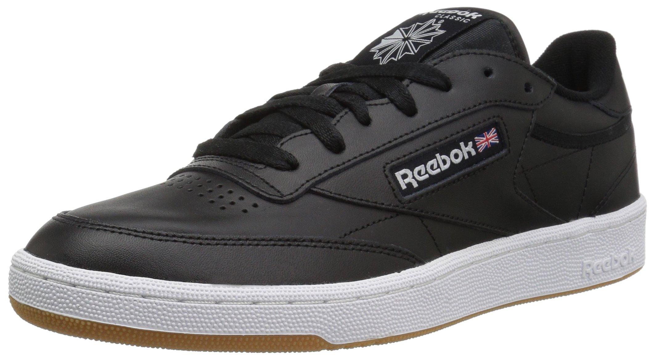 reebok club c black white