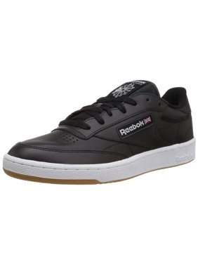 Reebok AR0458: Club C 85 Mens Black White Gum Sneaker