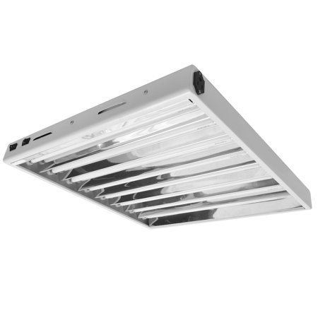 Hydroplanet™ T5 2ft 8lamp Fluorescent Ho Bulbs Included for Indoor Horticulture Gardening T5 Grow Lights Fixtures (8 Lam