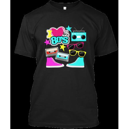 I Love The 80S Retro Shirt Hanes Tagless Tee