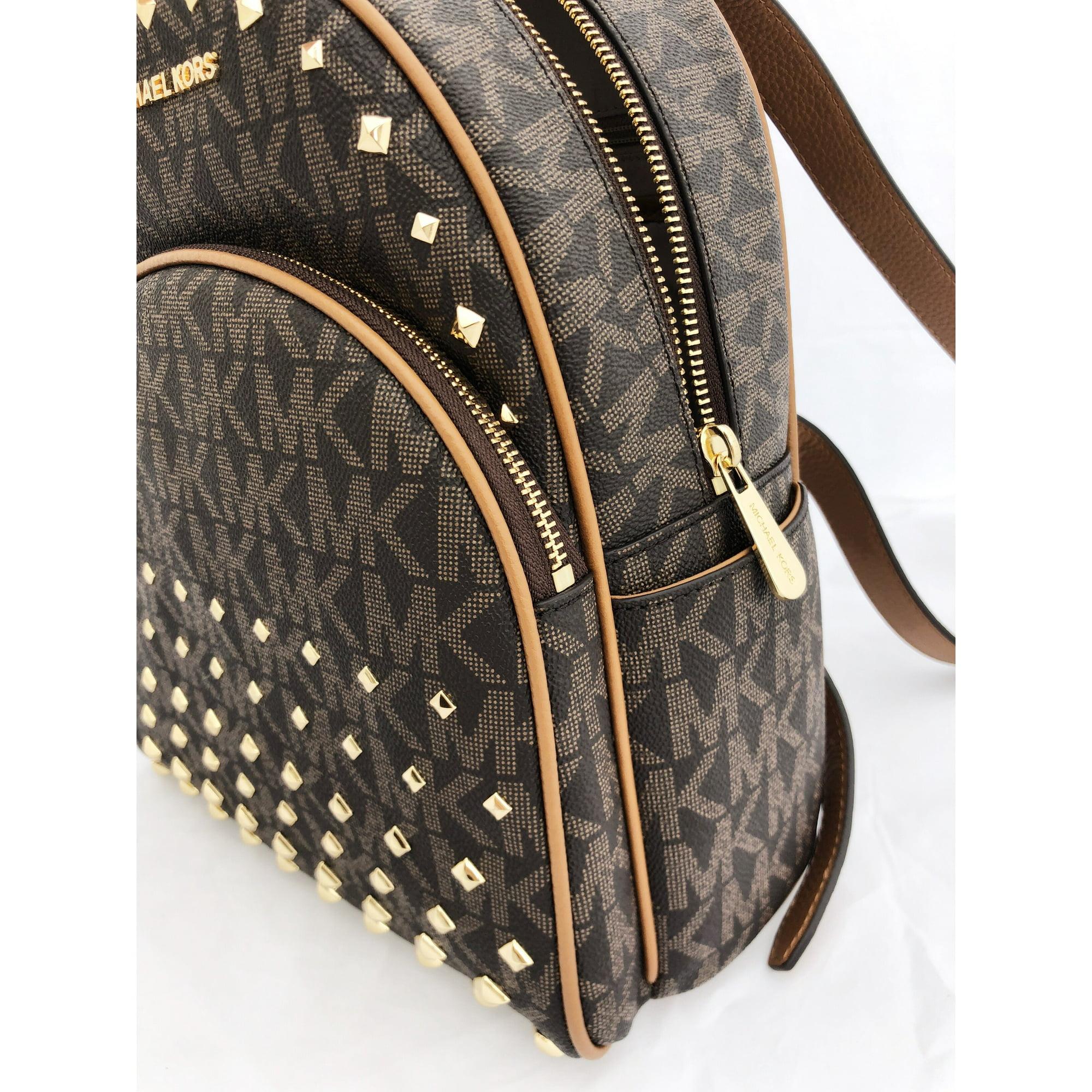 56d3a6bb743c Buy Michael Kors Abbey Medium Backpack Brown MK Signature Stud Acorn ...