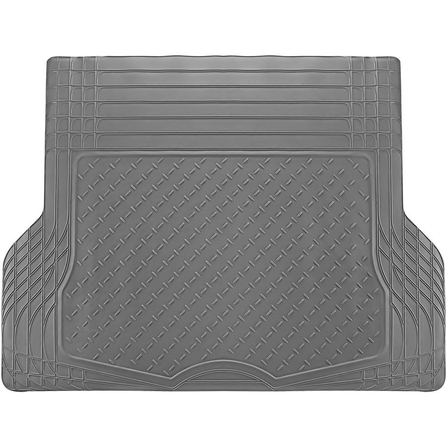 OxGord WeatherShield HD Heavy Duty Rubber Trunk Cargo Liner Floor Mat, Trim-to-Fit for Car, SUV, Van & Trucks, Gray