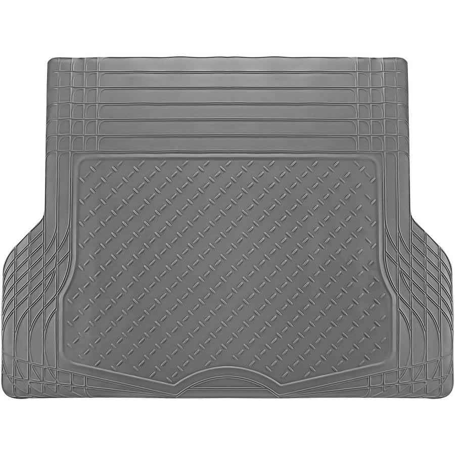 OxGord WeatherShield HD Heavy Duty Rubber Trunk Cargo Liner Floor Mat, Trim-to-Fit for Car, SUV, Van & Trucks, Gray