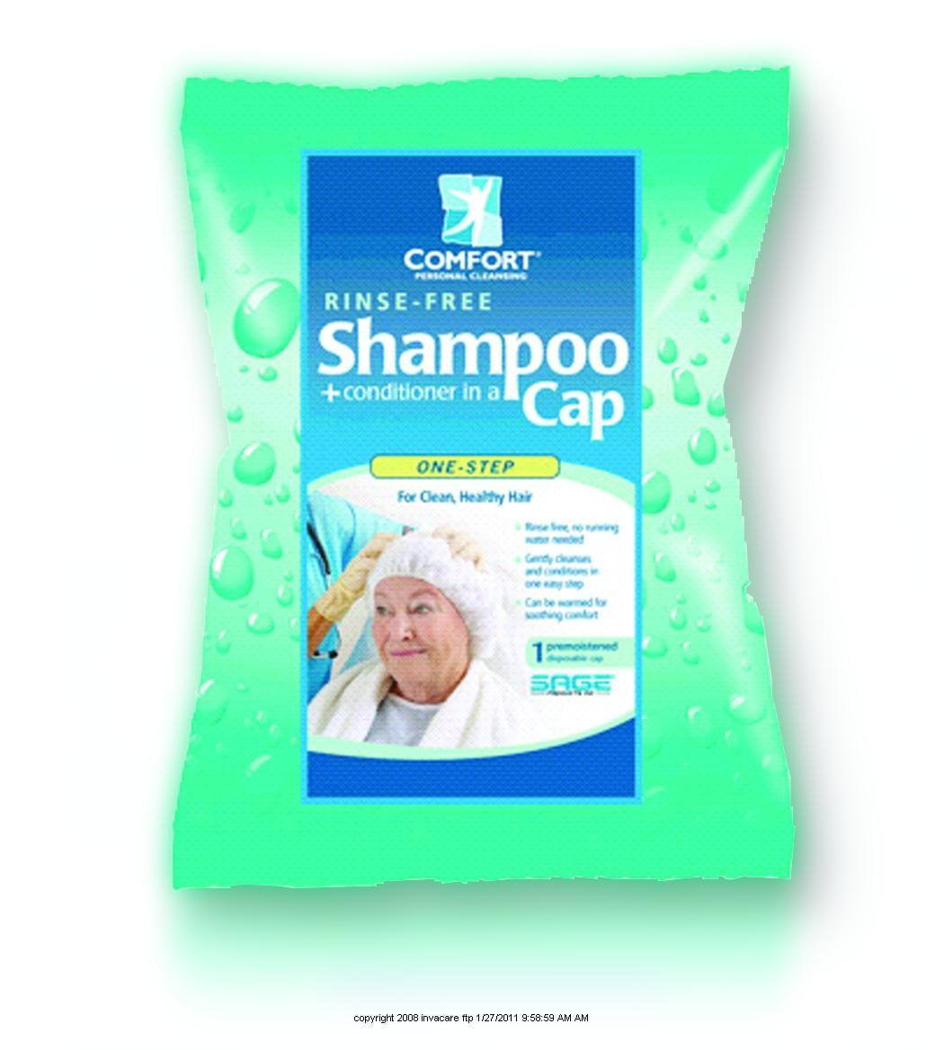 Comfort Bath Shampoo Cap  Clean Scent, 10 Pack