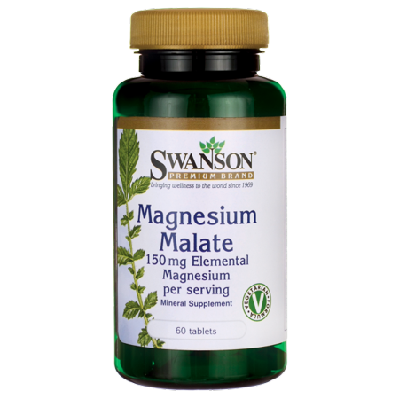 Swanson Magnesium Malate 150 mg 60 Tabs