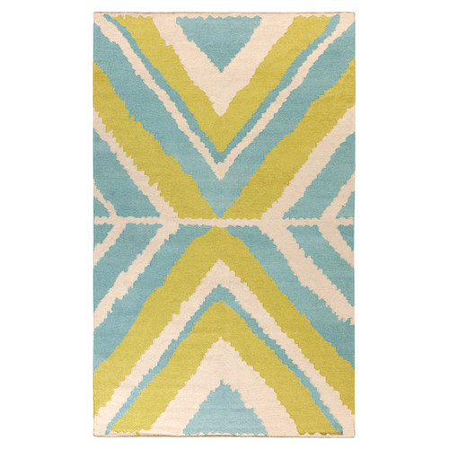 Beth Lacefield Alameda Ivory & Blue Area Rug