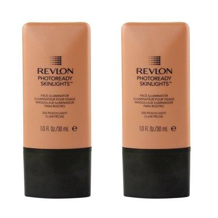 (Revlon Photo Ready Skinlights Face Illuminator - Peach Light (2 Pack) + Old Spice Deadlock Spiking Glue, Travel Size, .84 Oz)
