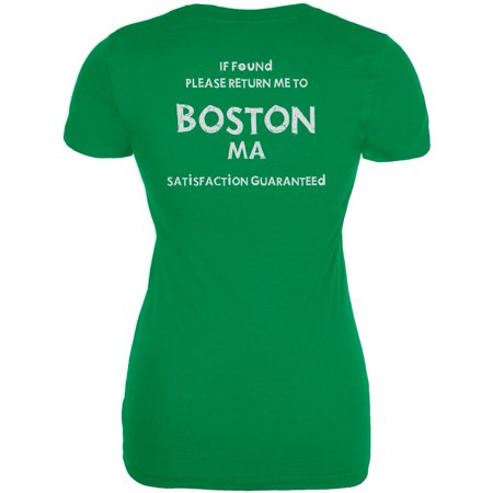St Patricks Day Return Me to Boston Irish Green Juniors Soft (Best Irish Pubs In Boston)