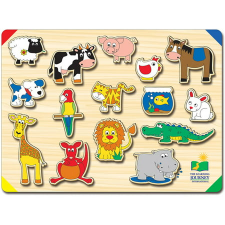 The Learning Journey Lift and Learn Animals Puzzle