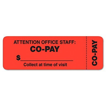 Thbies 40566 Attention Office Staff Medical Lhels, 1 x 3, Orange, 500 per Roll ()