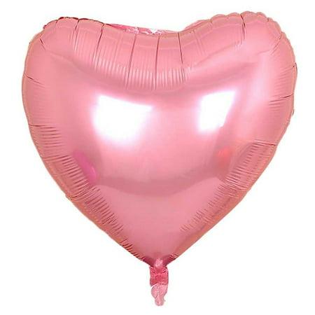 KABOER Large Giant Love Heart Foil Helium Balloons 3ft (36 Inch) Large Heart Tin