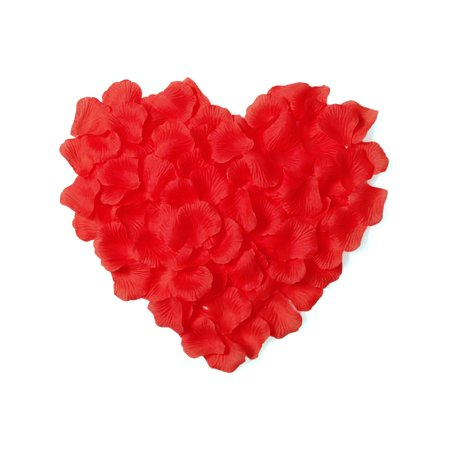 500 Pieces Silky Rose Petals Flower Bulks for Wedding / Party Decorations, Red