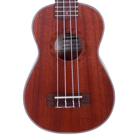 "Glarry New 21"" Soprano Concert Ukelele Sapele Wood Body for Beginner Student Professionals, Coffee, Diamond Pattern - image 4 of 7"
