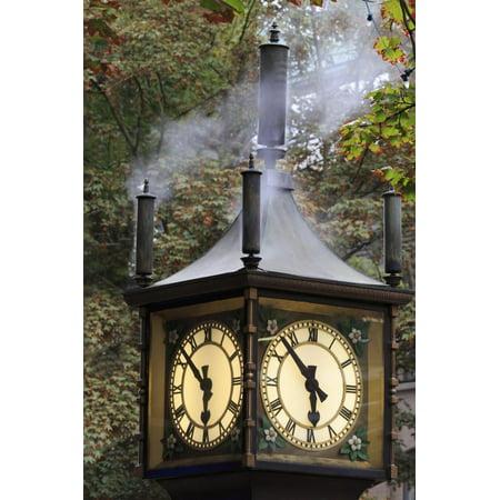 Steam clock, Gastown, Vancouver, British Columbia, Canada, North America Print Wall Art By Richard Cummins - Halloween North Vancouver