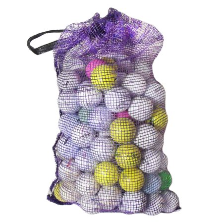 Mixed Premium Brands Golf Balls with Mesh Bag, Refurbished, 96 (Construction Golf Ball)