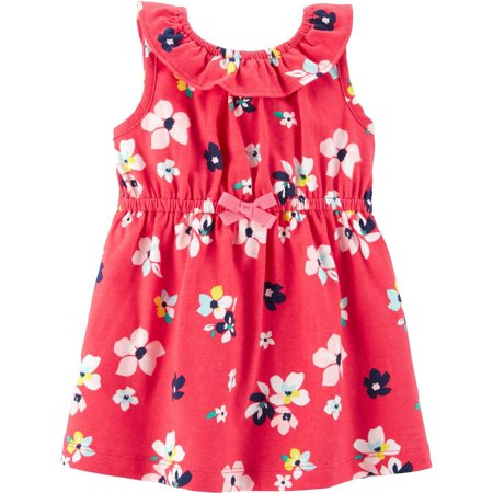 Carters Baby Girls Floral Popover Dress - Carters Halloween Dress