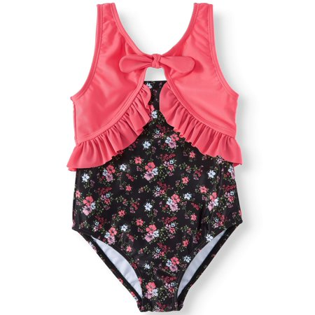 Floral Ruffled One-Piece Swimsuit (Little Girls)