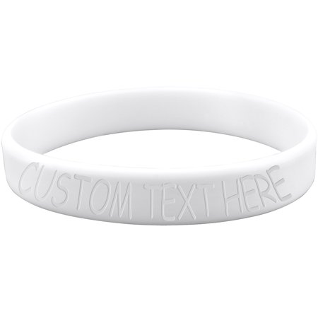 Body Candy Customizable White Silicone Stretch Personalized Message Bracelet
