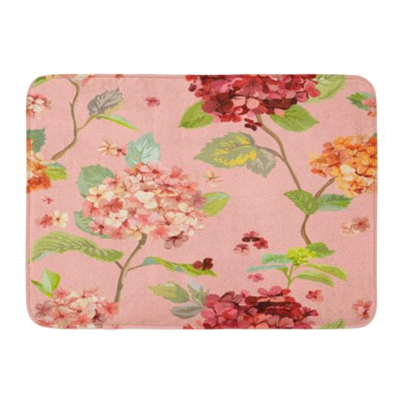 YUSDECOR Birthday Autumn Vintage Flowers Floral Hortensia in French Bloom Rug Doormat Bath Mat 23.6x15.7 inch - image 1 of 1