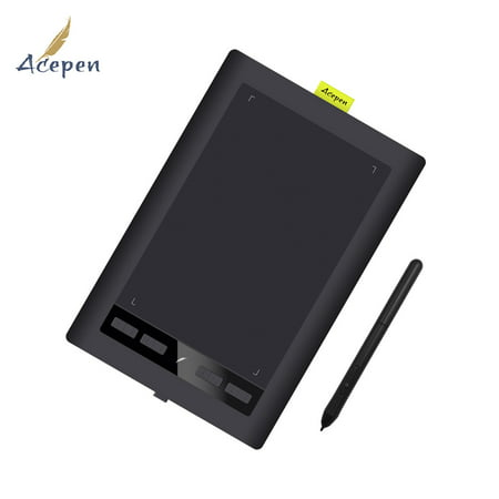 Acepen AP1060 10*6 Inch Art Graphic Drawing Tablet Board Painting Tool Kit  with 8 Shortcut Keys 2048 Level Pressure Battery-free Pen for Windows