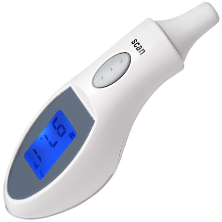 Medical Infrared Ear Thermometer with Backlight to Monitor Fever Body Temperature for Baby Infant Kids Adult ()