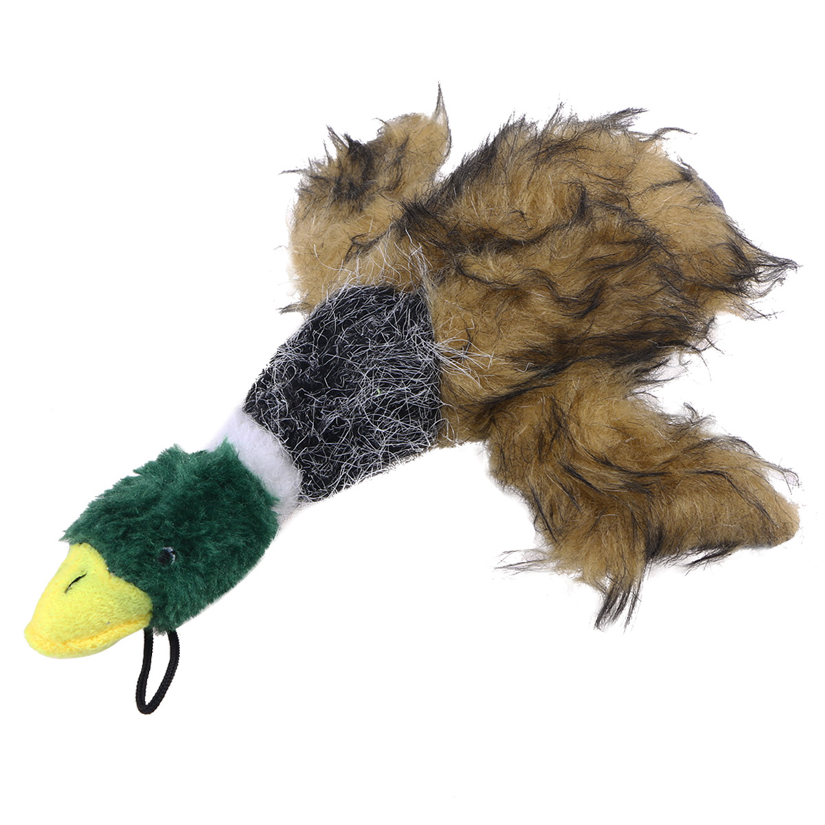 Duck Squeaky Dog Toys for Small Dogs Plush Dog Toys (Brown)