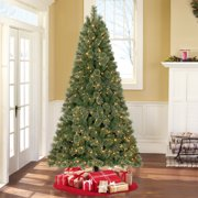 holiday time prelit 75 liberty pine artificial christmas tree color changing lights - Half Christmas Tree