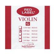 Super Sensitive Red Label Violin G String 1/8
