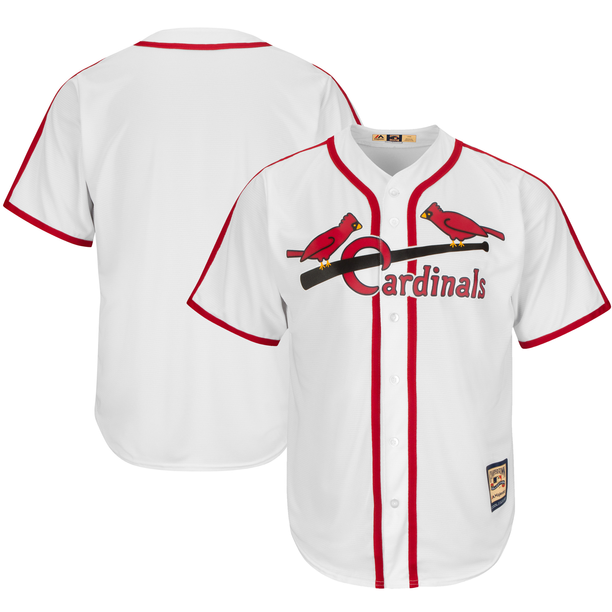St. Louis Cardinals Majestic Cooperstown Cool Base Team Jersey - White