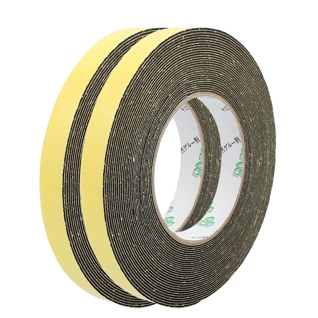 2Pcs 15mm Width 1mm Thickness Single Side Sponge Foam Tape Black 10 Meter Length - image 4 of 4