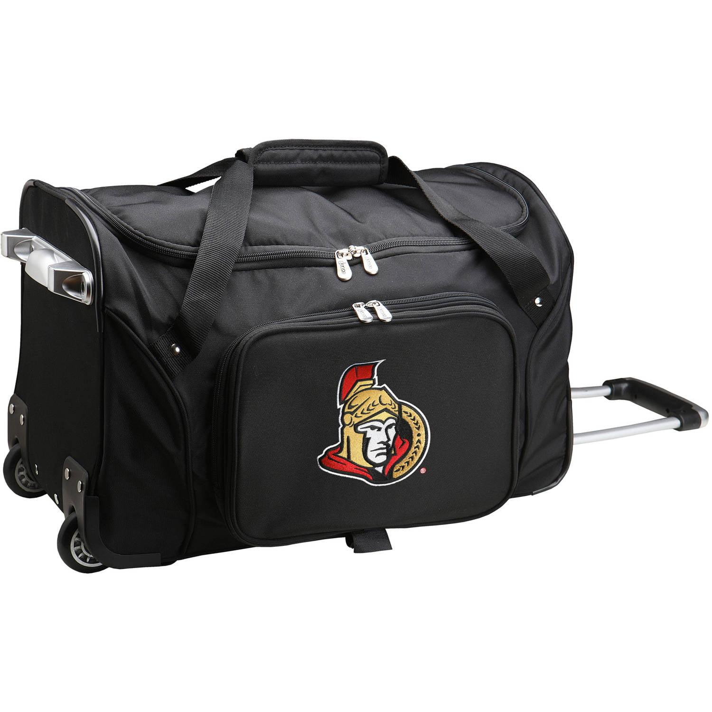 """Denco NHL 22"""" Rolling Duffel, Ottawa Senators by Mojo Licensing"""