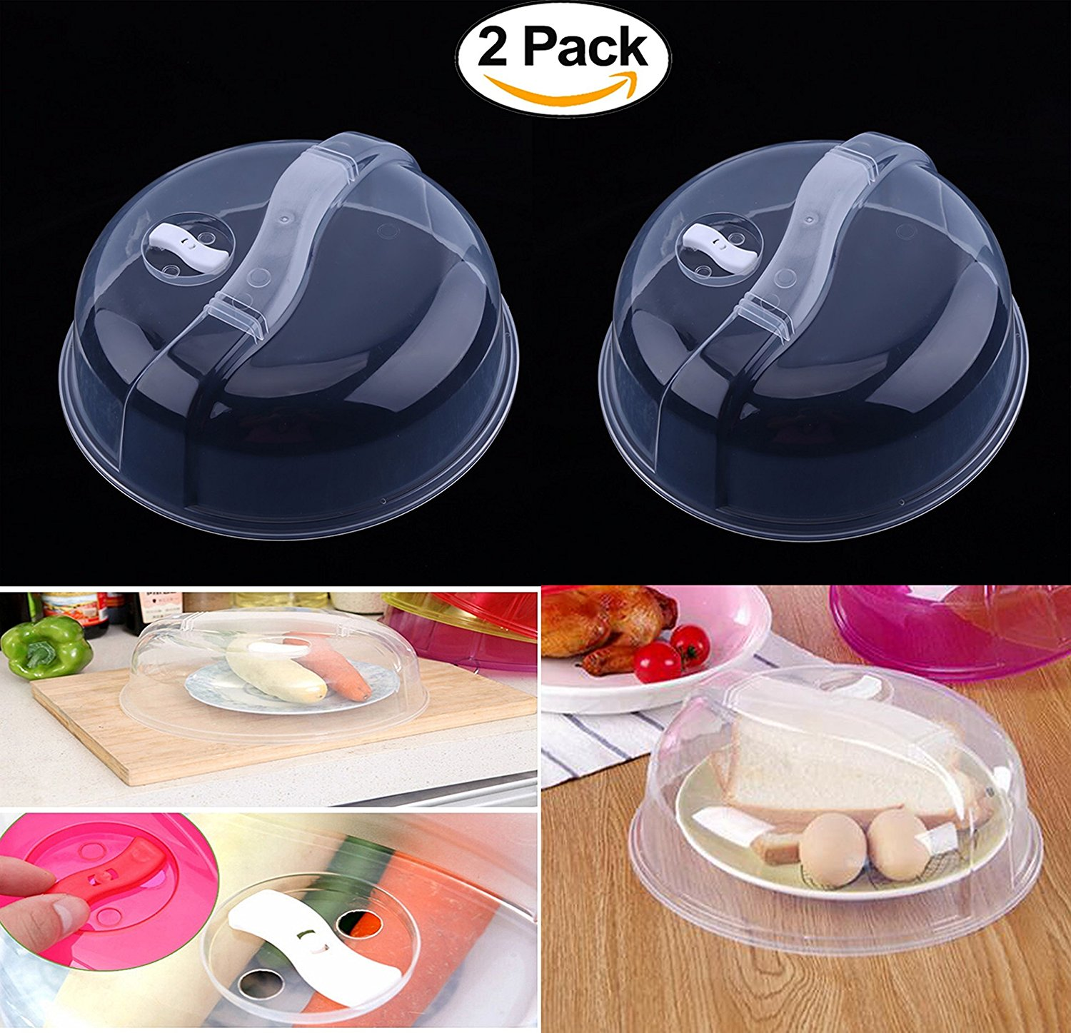 2 Pack Microwave Lid Fresh-keeping cover for refrigerator Special heating oil proof cover