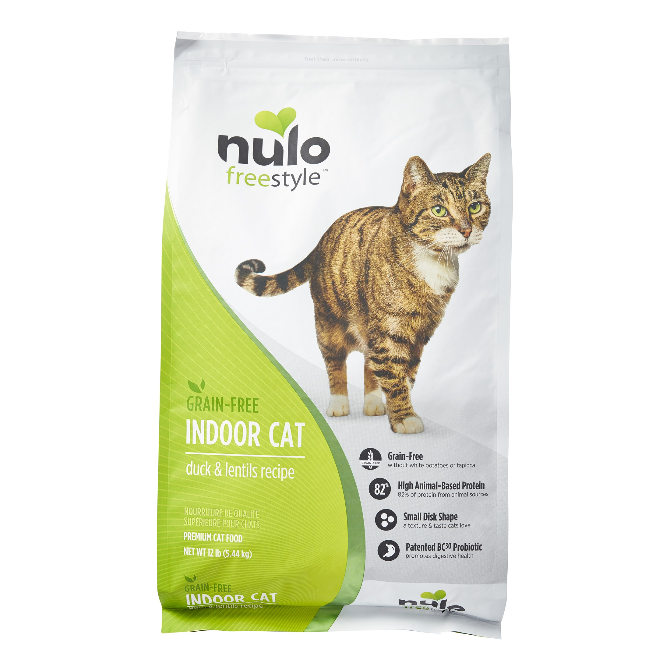 Nulo Freestyle Grain-Free Indoor Duck & Lentils Dry Cat Food, 12 Lb