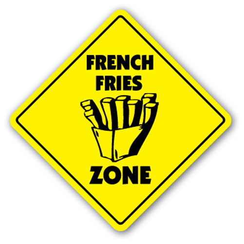 FRENCH FRIES ZONE Sign fry fryer concessions trailer restaurant food snacks bar