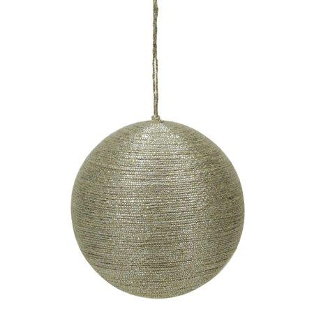 3 5  Modern Rustic Style Metallic Tan Jute Wrapped Christmas Ball Ornament  90Mm