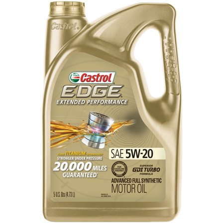 Castrol EDGE Extended Performance 5W-20 Advanced Full Synthetic Motor Oil,  5 QT