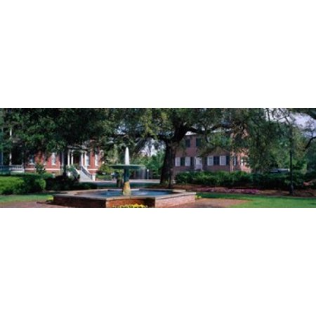 Columbia Square Historic District Savannah GA Canvas Art - Panoramic Images (39 x (Printable Map Of Savannah Ga Historic District)